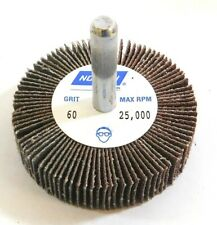 """Norton 63642502596 Flap Wheels 2"""" x 1/2"""" x 1/4""""  60 Grit A/O (Pack of 10)"""