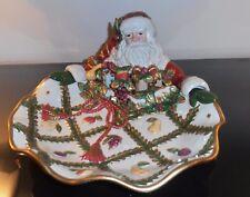 "Fitz and Floyd Santa Serving Dish.""Renaissance"" pattern original box"