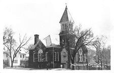 Havana IL Methodist Church & Neighborhood~RPPC c1950