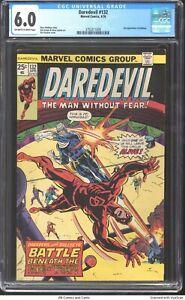 Daredevil #132 1976 CGC 6.0 - 2nd appearance of Bullseye.