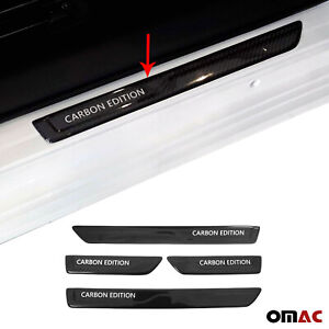 For Jeep Grand Cherokee 2011-2021 Carbon Fiber Door Sill Scuff Guard Cover 4 Pcs