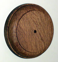 Period 90mm Round Oak Pattress - Mount a Period Dolly Light Switch - Hand Made
