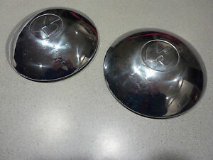 KAISER HENRY J (2) WHEEL CENTER CAP dogdish HUBCAP    A