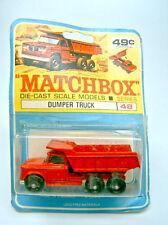 Matchbox RW 48C Dodge Dumper auf rarer canadischer Blisterkarte mit Modellabb.