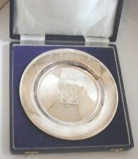 Lovely Large Solid Silver Fully Hallmarked Silver Jubilee Plate in Original Case