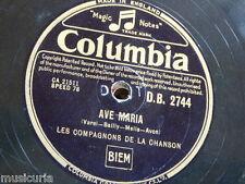 78rpm LES COMPAGNONS DE LA CANZONE Ave Maria/Whirlwind DB2744