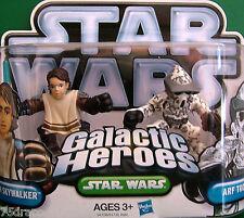 """Galactic Heroes """" ANAKIN SKYWALKER Poncho & ARF TROOPER """" NOC"""