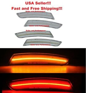 CLEAR LENS LED SIDE MARKERS FRONT & REAR for 2018 - 2020 CHEVY CAMARO CHEVROLET