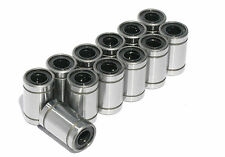 12pcs LM8UU Linear Ball Bearing for 8mm Rod RepRap 3D Printer Prusa Mendel i3 AU