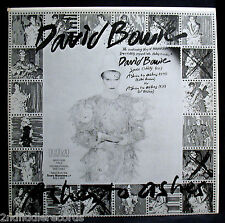 DAVID BOWIE-Very Rare ASHES TO ASHES DJ Promo Sampler Album-RCA #DJL1-3795-Glam