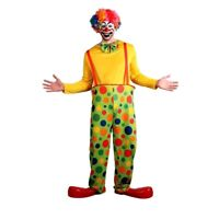 Adult FUNNY CLOWN Circus Crazy Big Top Party Fancy Dress Costume Male S M L XL