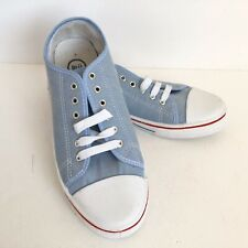 BLU Ladies Pale Blue Canvas Trainers Flat Shoes - UK Size 7 - New