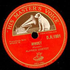 ALFRED CORTOT -Piano-  Minuet (Purcell) / The Prophet Bird    Schellack    S7742