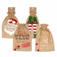 XL LARGE CHRISTMAS JUTE SANTA SACK XMAS HESSIAN STOCKING TOY PRESENT GIFT BAG