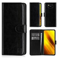 PU Leather Book Wallet Case Cover For Xiaomi POCO X3 NFC