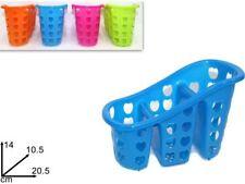 Cestino ScolaPosate Scola Posate Porta Posate Cucina Plastica Colorato dfh