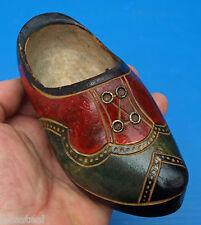 mignone petite paire de sabot chaussure en bois début 20ème -  art populaire