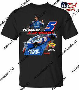 Men's Kyle Larson Checkered Flag 2021 Nascar Racing Race Win White T-Shirt S-4XL