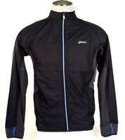 Asics Zip Front Black Water & Wind Resistant Running Jacket Men's NWT