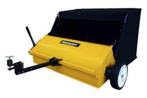 "42"" Heavy Duty Steel Tow Behind Lawn Sweeper Yard Garden Tractor Lawn Sweeping"