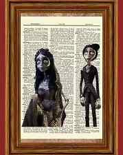 The Corpse Bride Dictionary Art Print Poster Burton Emily Victor Johnny Helena