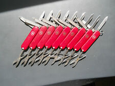 Lot of 9 Classic SD Victorinox Swiss Army knives in red - No Ads, light wear