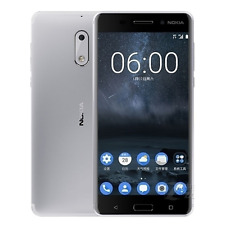 Nokia 6 Android 4G RAM 32G ROM Dual Sim 5.5'' 16MP Octa Core Smartphone Silver
