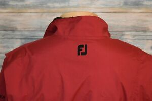 FOOTJOY DRYJOYS Medium Men's Full Zip Lined Windbreaker Red