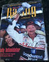 DALE EARNHARDT SR AUTOGRAPHED OCTOBER 1995 BECKET RACING NASCAR MAGAZINE