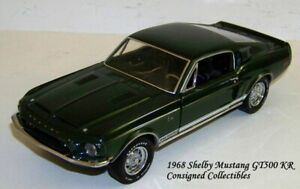 Franklin Mint 1968 SHELBY MUSTANG GT500KR SIGNED LTD.ED. 1/24 XC!