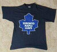 Vintage Starter Toronto Maple Leafs T-Shirt - Black Medium