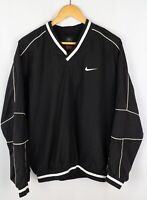 Nike Golf Men Sweatshirt Activewear Leisure Sports V Neck Black size M