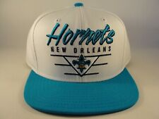 New Orleans Hornets NBA Adidas Snapback Hat Cap White Teal