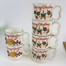Christmas Stacking Cups Vintage Lot Of Six
