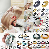 Fashion Women Headband Twist Hairband Bow Knot Cross Tie Headwrap Hair Band Hoop