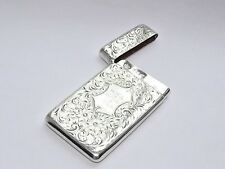 SUPERB QUALITY ANTIQUE VICTORIAN SOLID SILVER STERLING CARD CASE BIRMINGHAM 1901