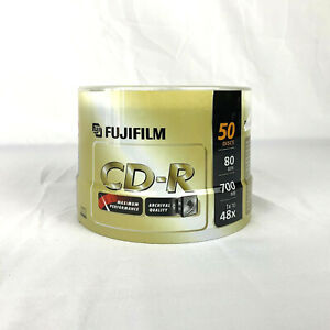 FUJIFILM CD-R 50-Pack DISC SPINDLE 700 MB 1X-48X 80 Minutes BRAND NEW SEALED NIB