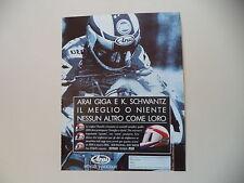 advertising Pubblicità 1991 CASCO ARAI e KEVIN SCHWANTZ