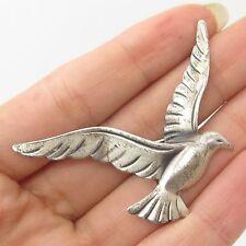 BEAU Vtg 925 Sterling Silver Seagull Pin Brooch