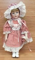 Dynasty Doll Collection Cardinal Inc. Porcelain Girl in Pink Dress **READ**