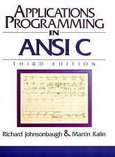 NEW Applications Programming in ANSI C (3rd Edition) by Richard Johnsonbaugh