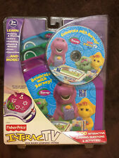 Lot of 2 Fisher Price InteracTV DVDs: Celebrate With Barney, Sesame Street, NEW!
