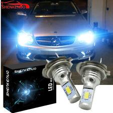 Pair Bulbs H7 LED White 100W Low Beam For Mercedes CLK W209 C209 A209 2003-2009