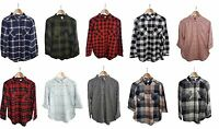 Women's Check Casual Shirt Blouse H&M Long Sleeve Fitted Soft Cotton 4 to 16