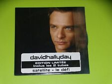 CD  SINGLE -  DAVID HALLYDAY - SATELLITE  - 2005