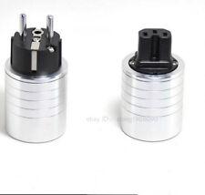 One set Hi-end Eu type Ac Power plug (one head plug+ one tail plug) L3-40