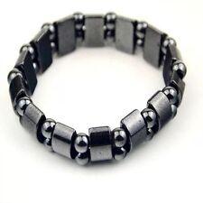 Hematite Unisex Magnetic Loose Beads Bracelet Jewelry For Man Women Healing