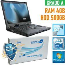 """NOTEBOOK LENOVO THINKPAD R500 CORE DUO 15,4"""" 4GB 500GB HDD ATI RADEON-"""