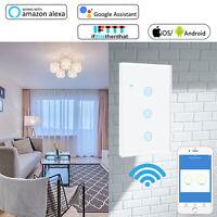 WIFI Light Wall Smart Switch 1/2/3 Gang Touch Panel Alexa & Google Home IFTTT US