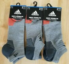 3x ADIDAS MEN'S SUPERLITE COMPRESSION NO SHOW SOCKS SHOE SIZE 6 -12 (2X3 Pairs)